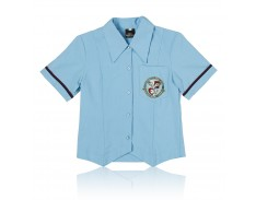 Blouse Pwd Blue Girls CCPS